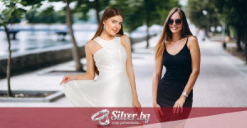 Как да изберем сребърни бижута за бяла и за черна рокля