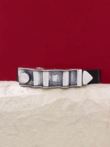 Гривна от кожа и сребро LB77