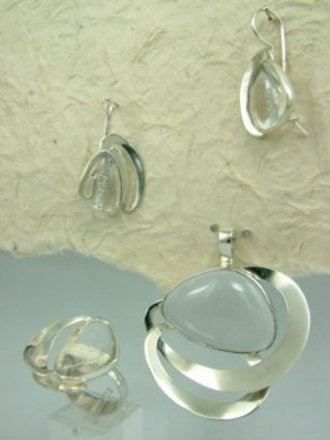 Уникат комплект-планински кристал 110167