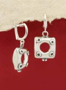 Сребърни обеци EK388