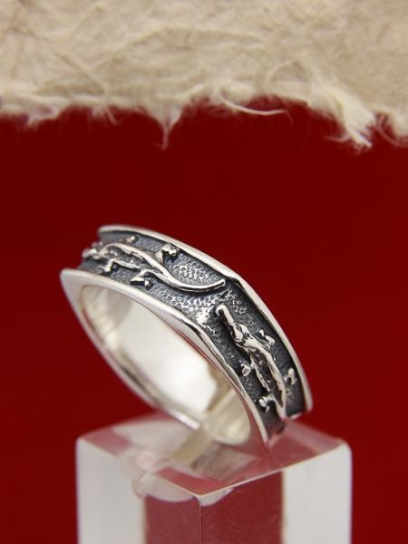 Сребърен пръстен R145