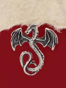 Сребърен медальон Дракон P208