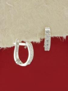 Сребърни обеци - E78