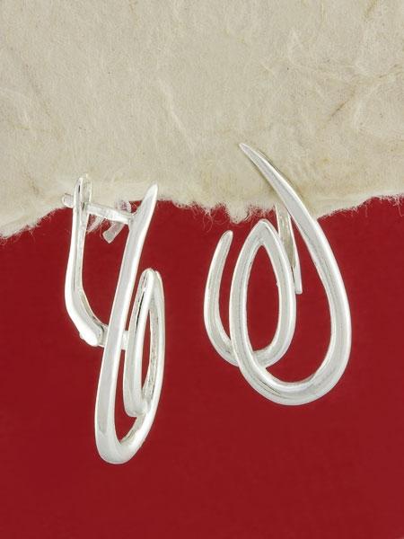 Сребърни обеци - E110