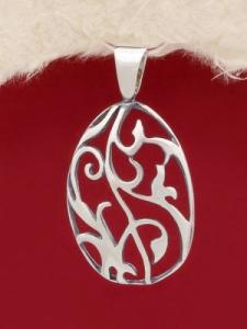 Сребърен медальон - PK305