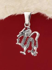 "Сребърен медальон - ""Дракон"" - P192"