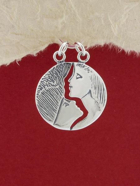 Сребърен медальон - P317