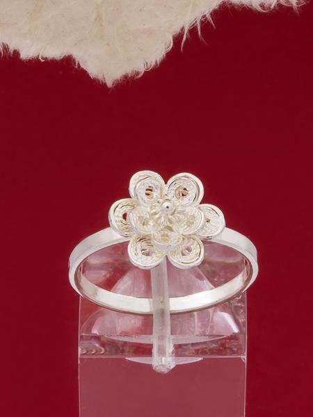 Сребърен пръстен филигран - FRB8