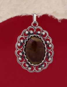 Сребърен медальон филигран - FPK58
