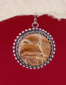 Сребърен медальон филигран - FPK61