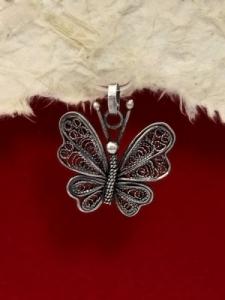 Сребърен медальон филигран - FPBR33