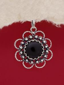 Сребърен медальон филигран - FPK62