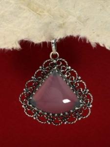 Сребърен медальон филигран - FPK63