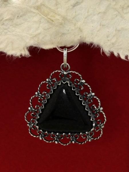 Сребърен медальон филигран - FPK65