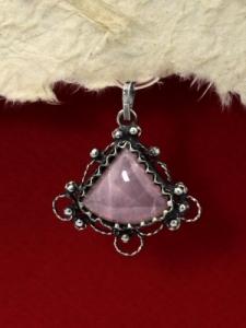 Сребърен медальон филигран - FP183