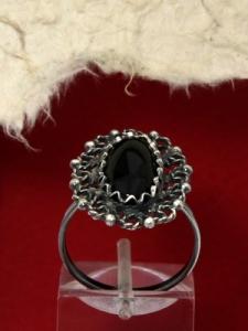 Сребърен пръстен филигран - FRK67 - Оникс