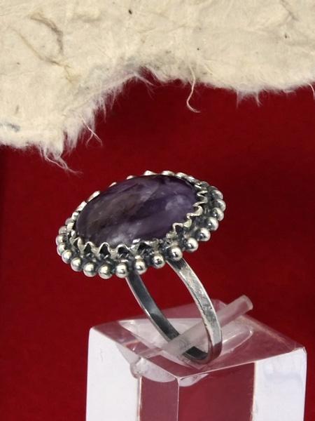 Сребърен пръстен филигран - FRK68 - Аметист