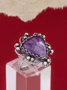 Сребърен пръстен филигран - FRK70 - Аметист