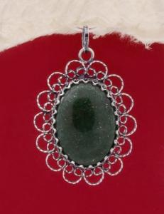 Сребърен медальон филигран - FPK78