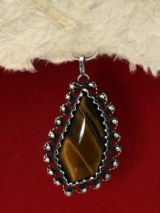 Сребърен медальон филигран - FPK79