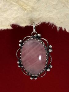 Сребърен медальон филигран - FPK83