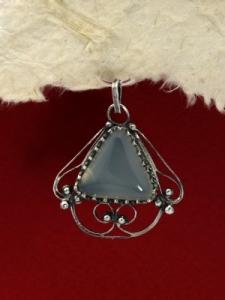 Сребърен медальон филигран - FP185