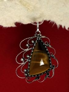 Сребърен медальон филигран - FP190