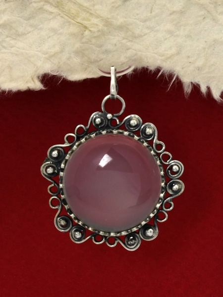 Сребърен медальон филигран - FP191