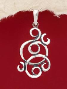 Сребърен медальон - PK280