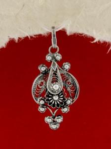 Сребърен медальон филигран FPkami