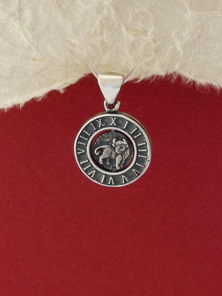 Сребърен медальон P203telec