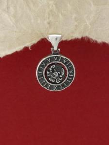 Сребърен медальон P203rak