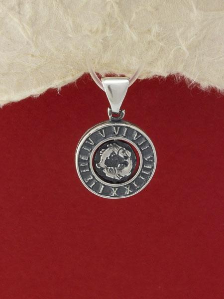 Сребърен медальон - P203ribi