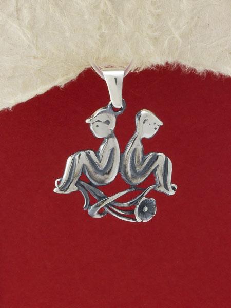 Сребърен медальон P219bliznaci
