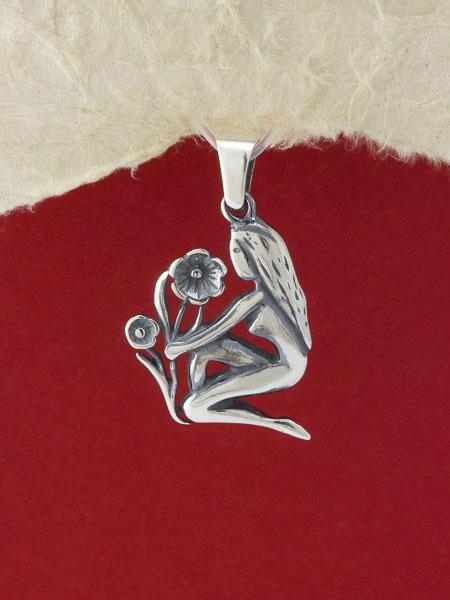 Сребърен медальон - P219deva