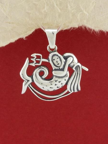 Сребърен медальон - P219vodolei