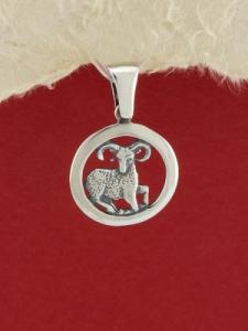 Сребърен медальон - P193oven