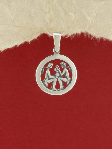 Сребърен медальон - P193bliznaci