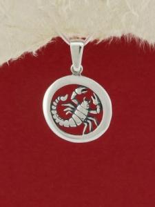 Сребърен медальон - P193skorpion