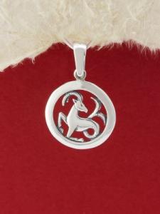 Сребърен медальон - P193kozirog