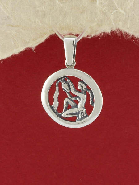 Сребърен медальон - P193vodolei