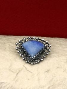 Сребърна брошка филигран FBr217