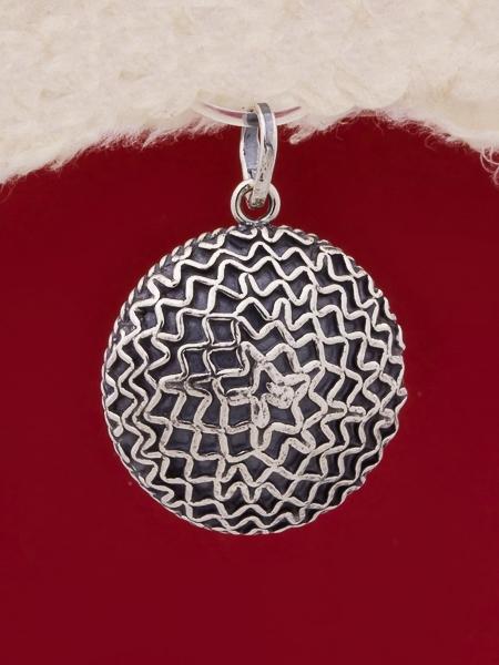 Сребърен медальон филигран - FPE102