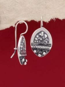 Сребърни обеци - EK80