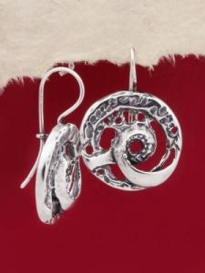Сребърни обеци - EK89