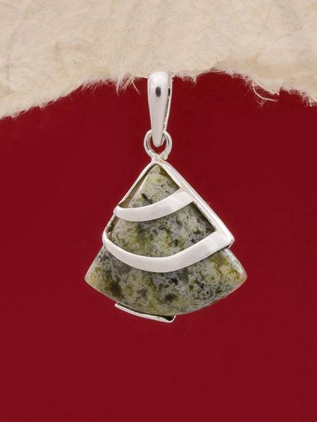 Сребърен медальон PK130 Родонит