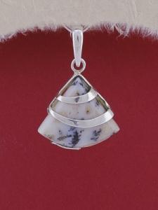 Сребърен медальон PK130 Дендрит ахат