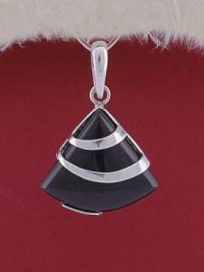 Сребърен медальон PK130 Оникс