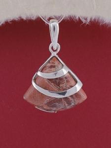 Сребърен медальон PK130 Брекча яспис