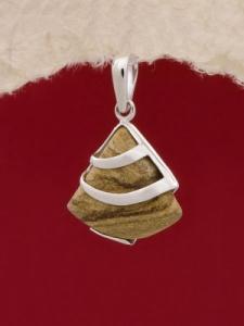 Сребърен медальон PK130 Ахатизирано дърво